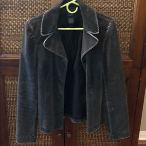 Frenchi Black Distressed Blazer Size large